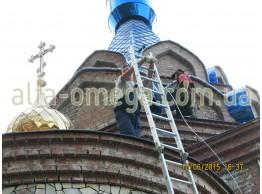 Православный храм в с. Круглик, Киевской области.